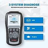 Autel obd2 Diagnosegerät ML619 mit volle OBD Funkotion (Fehlercode lesen/löschen,Echtzeit- und Spericherndaten anzeigen,Auto VIN,O2 Test usw) Diagnose für ABS und SRS - 4