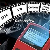 OBD2 Diagnosegerät Auto Fahrzeug Fehlercodeleser OBD II Diagnose Scanner arbeitet an Allen Autos mit OBD2/EOBD/CAN-Modi mit 16-Pin OBDII-Schnittstelle für Lesen und Löschen Fehlercode/Batterie Test - 4