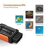 OBD2 Auto-Scanner, Tacklife AOBD1B Diagnose-Scanner mit OBDII, Bluetooth-Scanner und PIC18F2480 Chip für Android, 3000 Code-Datenbank, Fehlerspeicher lesen und löschen, geeignet für die meisten Autos - 5