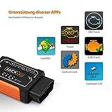 OBD2 Auto-Scanner, Tacklife AOBD1W Diagnose-Scanner mit OBDII, WiFi-Scanner und PIC18F2480 Chip für Android und iOS, 3000 Code-Datenbank, Fehlerspeicher lesen und löschen, geeignet für meisten Autos - 5