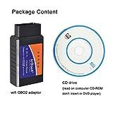 ieGeek OBD WiFi OBD2 Mini Wireless Adapter Scanner Fehlercode Auto Diagnose Werkzeug Leser für Fahrzeug Mini-Tools - Verbindung über WiFi am Telefon (iPhone und Android) - 3000 Datenbank-Code - 2