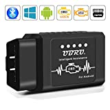 kungfuren OBD2 Bluetooth Adapter, Auto OBD II Diagnosegerät Diagnose Scanner Code Reader Tool Das nur mit Android & Windows Geräten Kompatibel ist