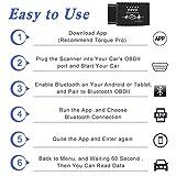 kungfuren OBD2 Bluetooth Adapter, Auto OBD II Diagnosegerät Diagnose Scanner Code Reader Tool Das nur mit Android & Windows Geräten Kompatibel ist - 8