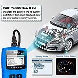 OBD2 Diagnosegerät Auto Diagnosewerkzeuge Tvird Universal Diagnose Scanner für alle Fahrzeuge ab 2000 mit OBD II Protokolle/standardem 16-pin OBD-II Schnittstelle/Batterietest EOBD Code Reader - 3
