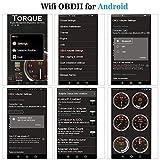 OBD2 Bluetooth Adapter Diagnosegerät ,QHUI OBDII Diagnose Scanner ELM327 Interface Universal Auto-Scanner Code Leser, Motorkontrollleuchte Diagnosegerät für Android Windows Smartphone Tablet - 9