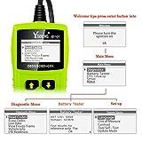 JDiag OBD2 Diagnosegerät OBD Code-Scanner-Fahrzeug-Fehlercodeleser arbeitet an allen Autos mit OBD2 / EOBD / CAN-Modi und 16-Pin OBDII-Schnittstelle für Lesen und Löschen Fehlercode und Batterie Test - 5