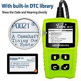 JDiag OBD2 Diagnosegerät OBD Code-Scanner-Fahrzeug-Fehlercodeleser arbeitet an allen Autos mit OBD2 / EOBD / CAN-Modi und 16-Pin OBDII-Schnittstelle für Lesen und Löschen Fehlercode und Batterie Test - 6