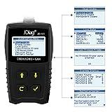 JDiag OBD2 Auto Diagnosegerät OBD II Code Scanner EOBD für alle Fahrzeug ab 2000 mit OBD II Protokolle, mit standard 16-pin OBD-II Schnittstelle für Lesen und Löschen von Fehlercodes,Batterietest - 4