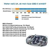 kungfuren OBD2 Bluetooth Adapter, OBD2 Diagnosegerät für Android Windows Torque ELM327 Interface EOBD OBDII Auto Scanner für Auto Car PKW KFZ, Code Leser Fehlerspeicher lesen und löschen - 2
