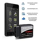 kungfuren OBD2 Bluetooth Adapter, OBD2 Diagnosegerät für Android Windows Torque ELM327 Interface EOBD OBDII Auto Scanner für Auto Car PKW KFZ, Code Leser Fehlerspeicher lesen und löschen - 4
