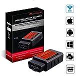 AUTOGEN® OBD2 WiFi Adapter Diagnosegerät, ELM327 II mit iOS/Android/Windows, Wireless Auto Scanner Interface, für Car PKWs KFZs