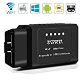 UBRU OBD2 Diagnosegerät, Mini WiFi OBD2 Auto Diagnosegerät für Android Smartphones IOS und Windows Auto Diagnose OBD2 Scanner Code Reader für die meisten Autos & LKW