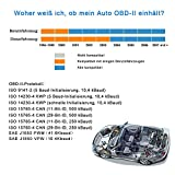 VAWcornic Bluetooth Professioneller OBD2 Diagnosegerät, Auto Diagnosegerät OBD II Kfz Adapter – Kompatibel mit Alle Fahrzeuge, Auto Diagnose OBD2 Stecker Für IOS, Android, Windows - 2